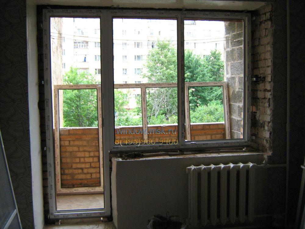 Технология установки пластиковых окон и балконной двери..