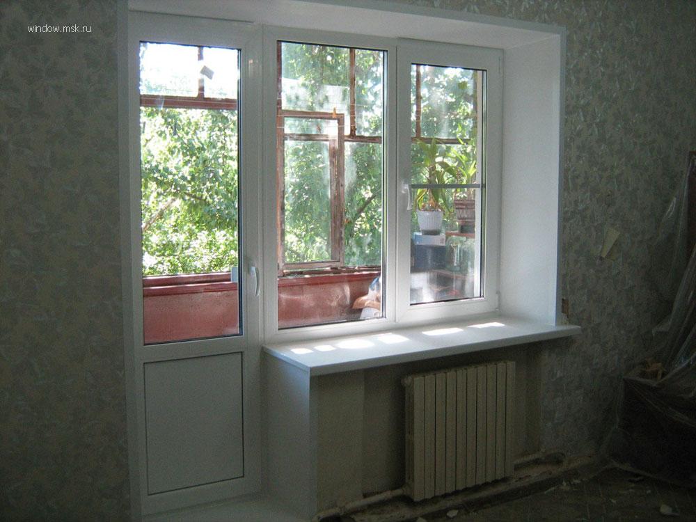 Пластиковые окна балконный блок и отделка лоджии.